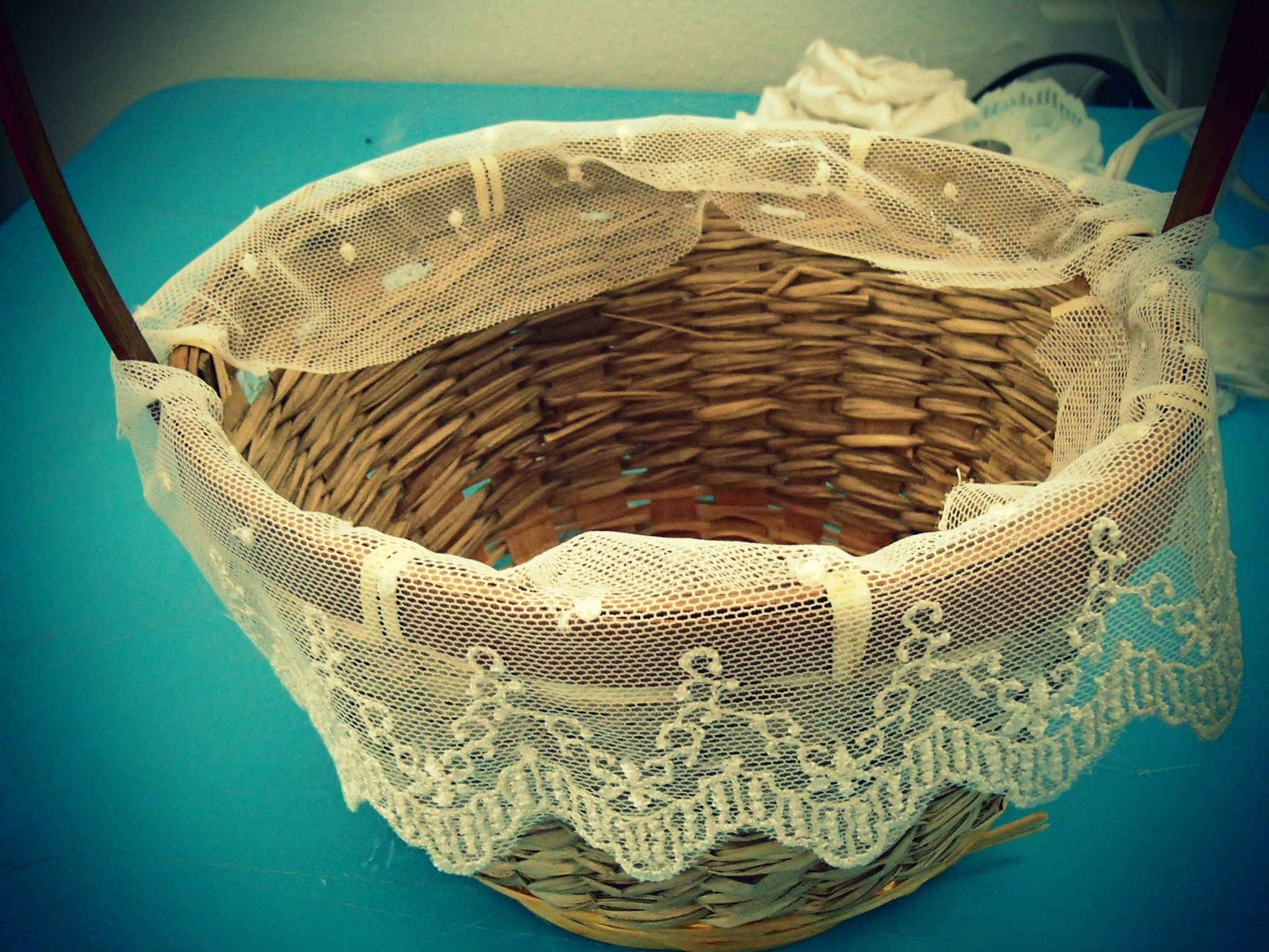 How To Make A Flower Girl Basket With Fabric : Flowergirl basket burlap and butter